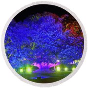 Round Beach Towel featuring the photograph Garden Of Light By Kaye Menner by Kaye Menner