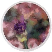 Round Beach Towel featuring the mixed media Garden Of Love by Trish Tritz