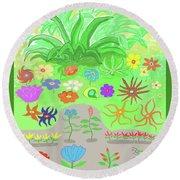 Garden Of Memories Round Beach Towel by Fred Jinkins