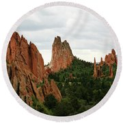 Round Beach Towel featuring the photograph Garden Of The Gods Geology by Marilyn Hunt