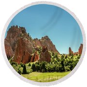 Round Beach Towel featuring the photograph Garden Of The Gods II by Bill Gallagher