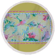 Garden Party Floorcloth Round Beach Towel