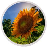 Garden Queen  Round Beach Towel