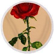 Garden Rose Round Beach Towel