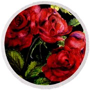 Garden Roses Round Beach Towel by Carol Grimes