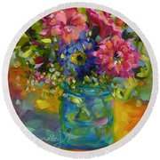 Garden Treasures Round Beach Towel