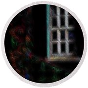 Garden Window 3 Round Beach Towel by William Horden