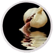 Round Beach Towel featuring the photograph Garlic Cloves Of Garlic by David French