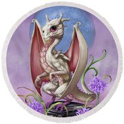 Garlic Dragon Round Beach Towel by Stanley Morrison