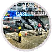 Gasoline Alley Round Beach Towel