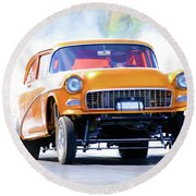 Gasser Burnout Round Beach Towel