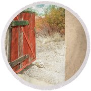 Gate To Oracle Round Beach Towel