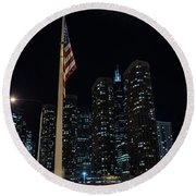 Gate To The West Loop Chicago Round Beach Towel