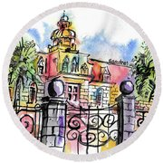 Gated Residence Round Beach Towel