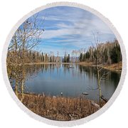 Gates Lake Round Beach Towel