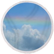 Gates Of Babylon Round Beach Towel