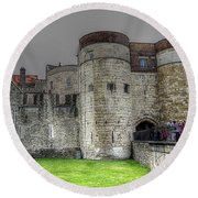 Gates To The Tower Of London Round Beach Towel