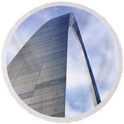 Round Beach Towel featuring the photograph Gateway Arch - Grace - Saint Louis by Nikolyn McDonald