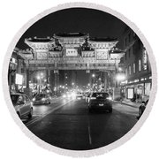 Gateway To Chinatown Round Beach Towel