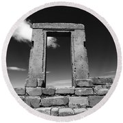 Gateway To The Past Round Beach Towel