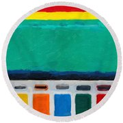 Round Beach Towel featuring the digital art Gateways And Portals No.1 by Serge Averbukh