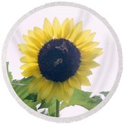 Gatherers Round Beach Towel by Wendy Coulson