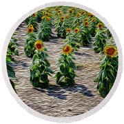 Gathering In Place Round Beach Towel