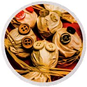 Gathering Of Ghosts Round Beach Towel