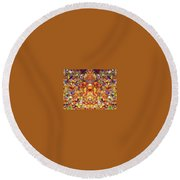 Gathering Of The Leaf Gods Round Beach Towel