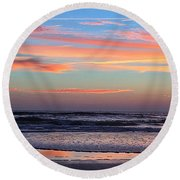 Gator Sunrise 10.31.15 Round Beach Towel
