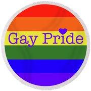 Gay Pride Love Round Beach Towel