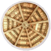 Gazebo Roof Round Beach Towel