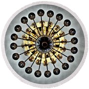 Gazing Up Into The Light Round Beach Towel