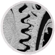 Gear - Zoom, Close Up Round Beach Towel