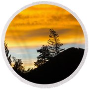 Round Beach Towel featuring the photograph Geese At Sunrise by Shane Bechler