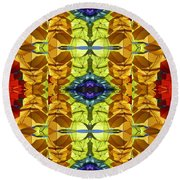 Gem Colors Round Beach Towel