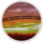 Gem Island Sports Complex Round Beach Towel
