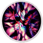 Round Beach Towel featuring the digital art Gem by Zaira Dzhaubaeva