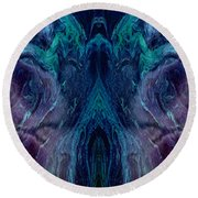 Geminate Round Beach Towel by Tlynn Brentnall