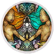 Gemini Round Beach Towel