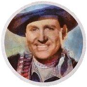 Gene Autry, Vintage Hollywood Western Legend Round Beach Towel