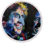 Gene Wilder And Richard Pryor Round Beach Towel