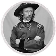 General George Armstrong Custer Round Beach Towel