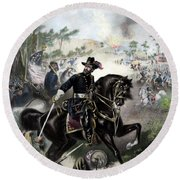 General Grant During Battle Round Beach Towel