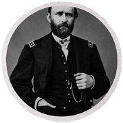 General Grant During The Civil War Round Beach Towel