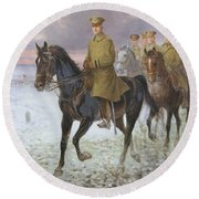 General John J Pershing  Round Beach Towel