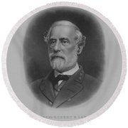 General Robert E. Lee Print Round Beach Towel