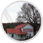 Round Beach Towel featuring the photograph General Store by Eric Liller