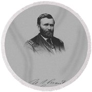 General Ulysses Grant And His Signature Round Beach Towel