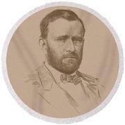 General Ulysses S Grant Round Beach Towel
